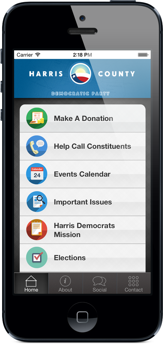 Harris County Democratic Party App Screenshot